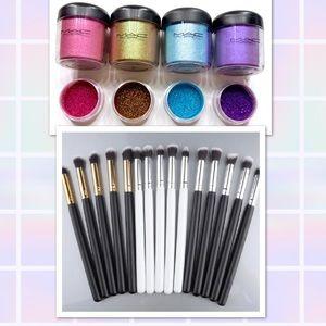 💜M•A•C Pigments + Brush Set💎